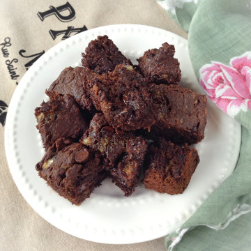 Vegan Dessert: Banana Bread Brownies