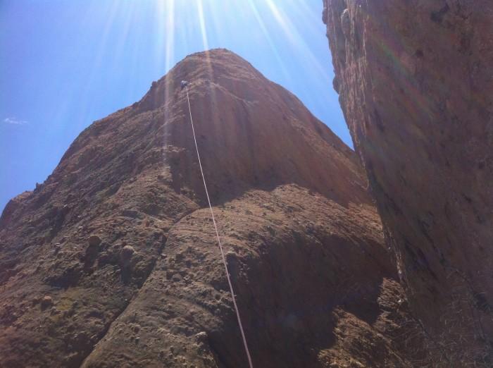 Emily rock climb