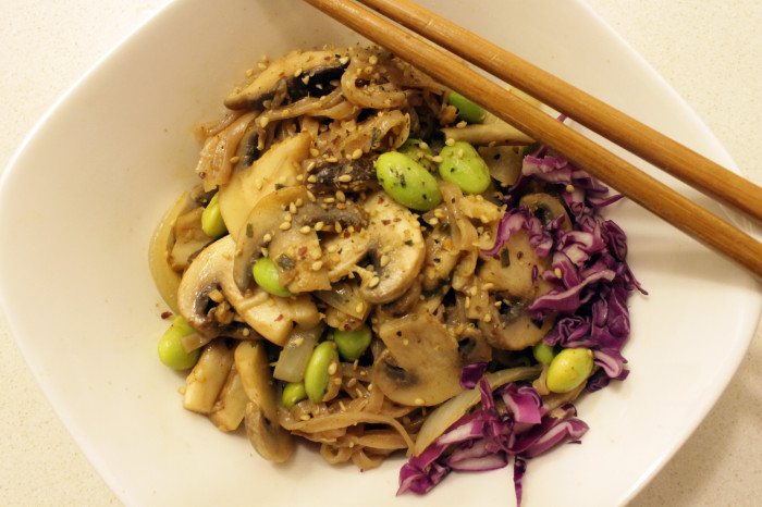 rice noodles with shiitake and edamame1