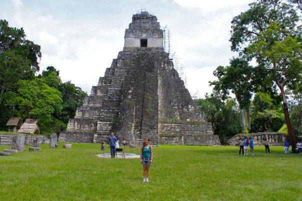 In Tikal, tourists are free to climb ancient Mayan pyramids where sacrifices once took place.