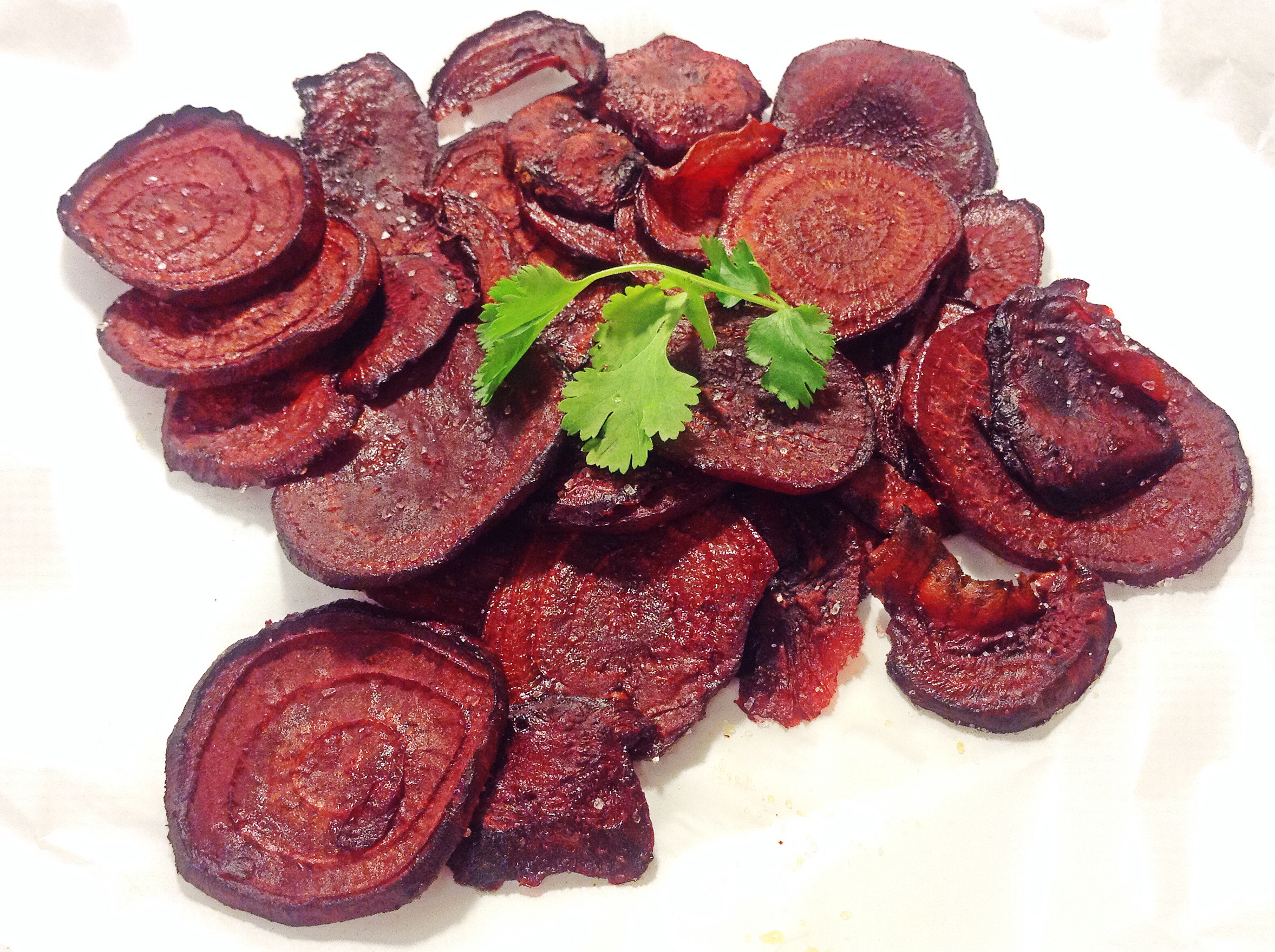 Healthy Snacks: Southwestern Beet Chips