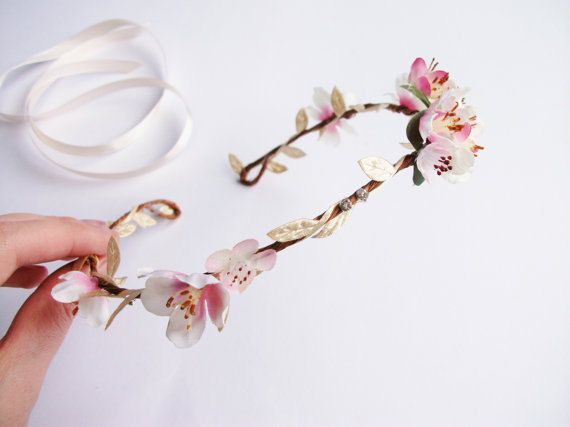 Spring Style: Floral Hair Accessories - Cherry Blossom Flower Crown!