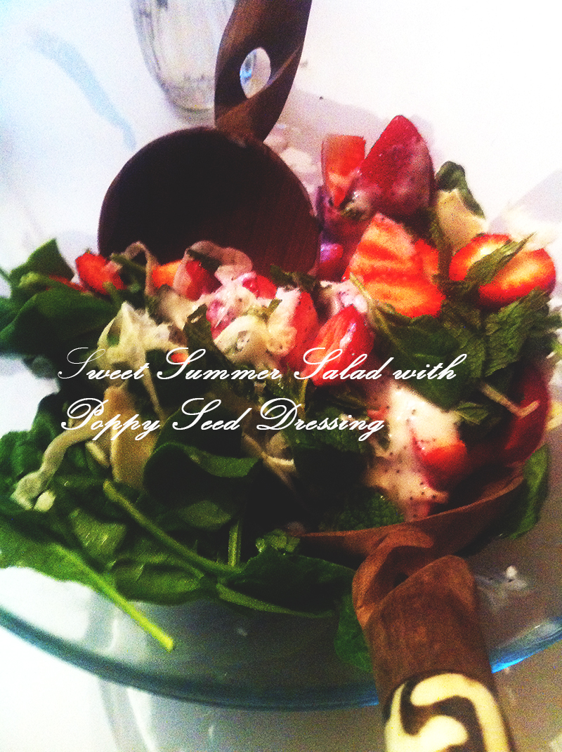 Sweet Summer Salad with Poppy Seed Dressing