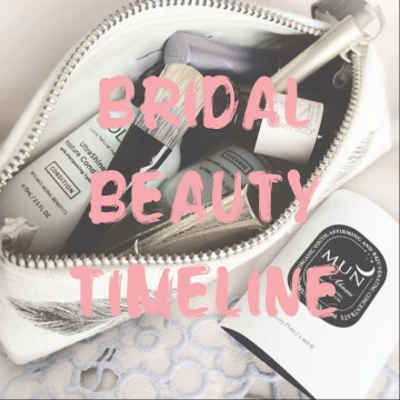 Natural Beauty: Bridal Beauty TImeline