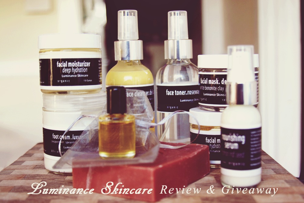 Organic Skin Care Lines: Luminance Skincare Review & Giveaway!