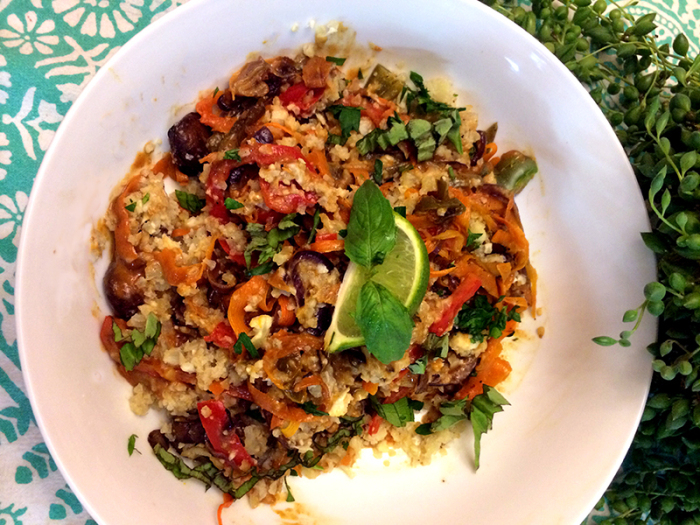 Vegan Thai Recipes: Peanut Satay on Cauliflower Rice