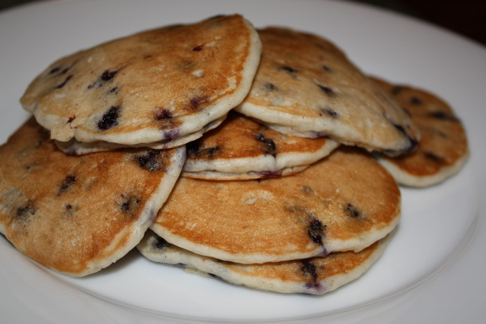 Vegan Blueberry Sour Cream Pancakes