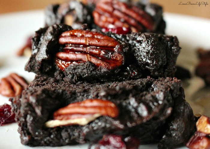 Vegan Thanksgiving Recipes: Double Chocolate Pecan Brownies