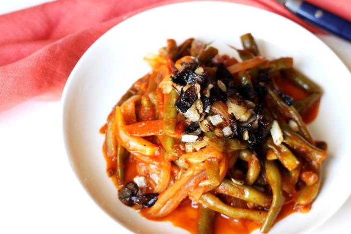 Vegan Thanksgiving Recipes: Best Ever Braised Green Beans