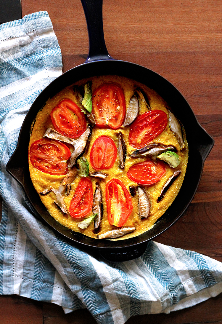 Healthy Lunch: Vegan Tomato Avocado Quiche