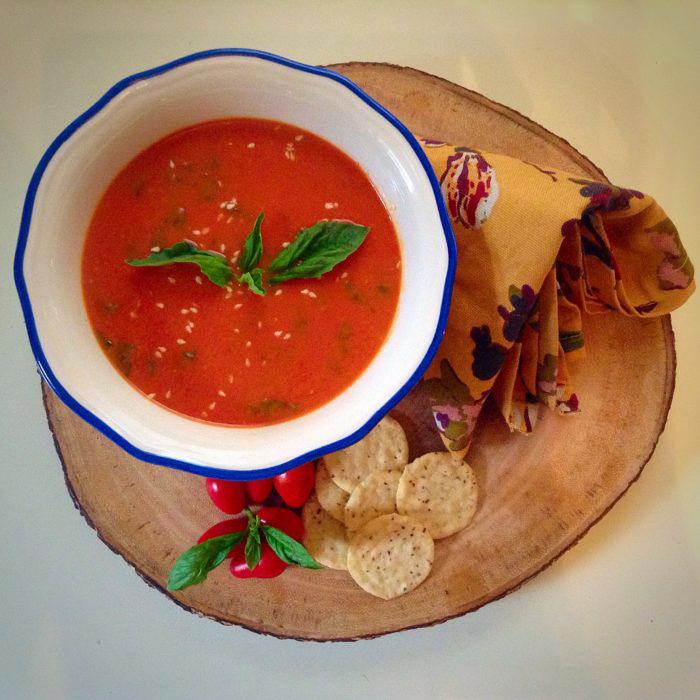 Vegan Soup Recipes: Roasted Cherry Tomato Basil Soup