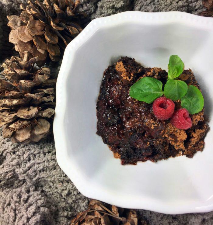 Vegan Crock-Pot Recipes: Chocolate Raspberry Dump Cake