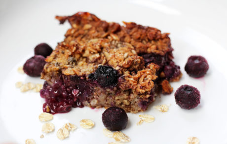 Vegan Baked Blueberry Oatmeal