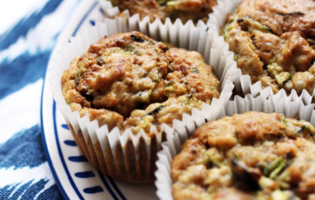 Vegan Lemon Zucchini Breakfast Muffins