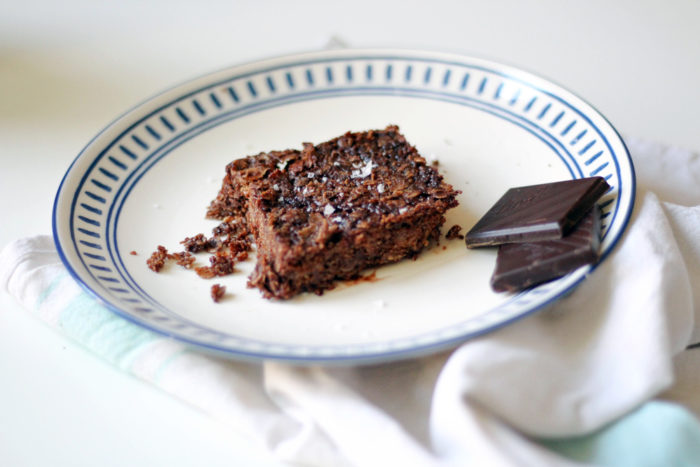 Gluten-Free Vegan Dark Chocolate & Sea Salt Flapjacks