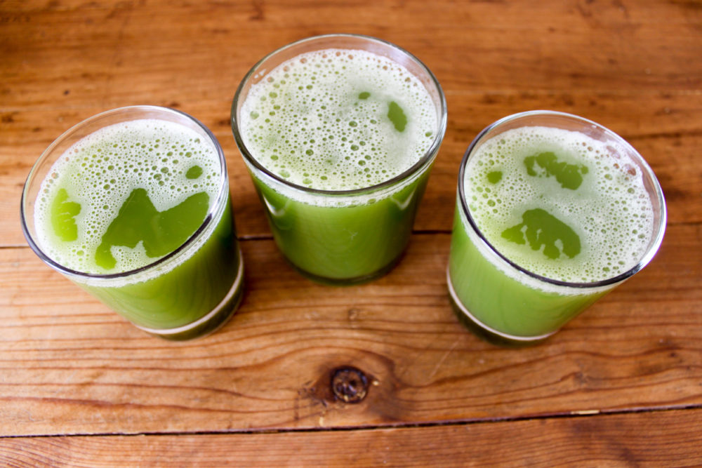 3 cups of delicious homemade celery juice