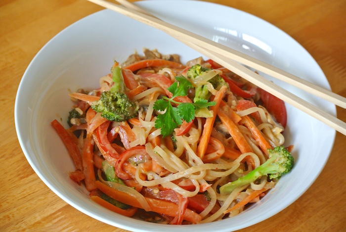 Spicy Peanut Noodles Recipe