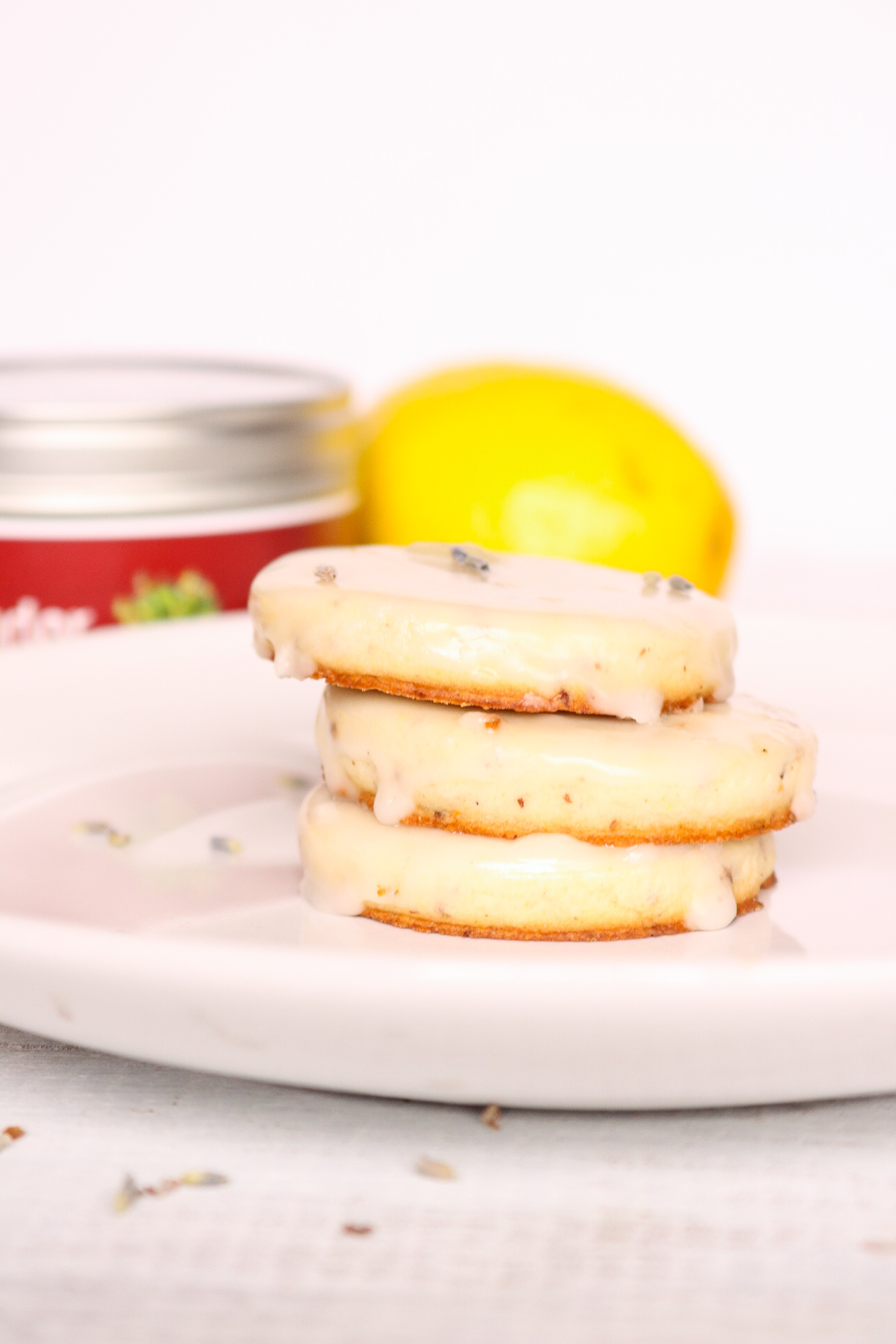 Vegan Lemon Lavender Sugar Cookies with Lemon Glaze