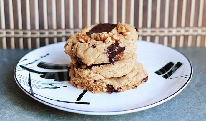 Easy Vegan, GF & Soy-Free Chocolate Chunk Walnut Cookies