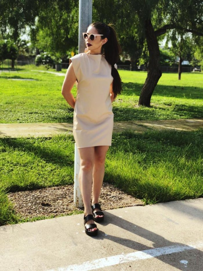Sustainable Vegan Leather Dress