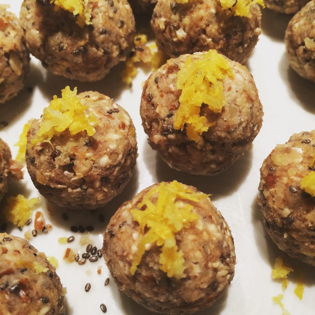 Lemon Maple Protein Balls