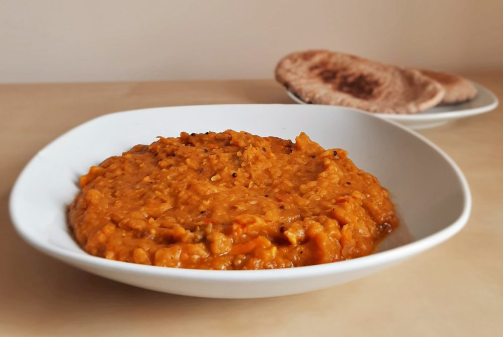 dhal with pita bread