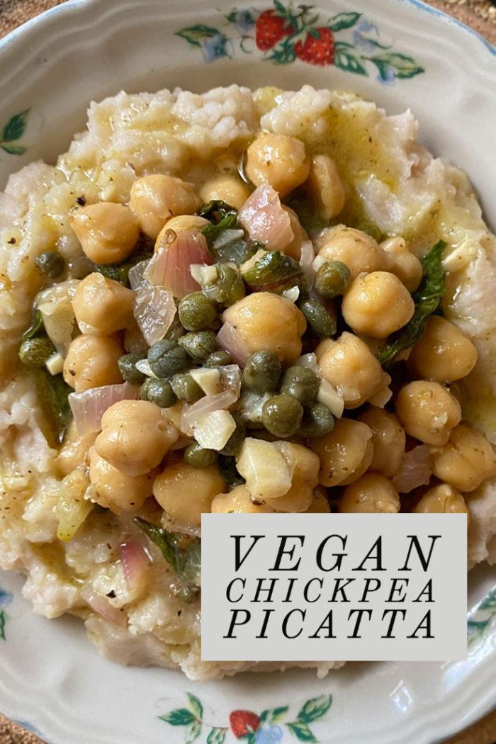 vegan chickpea picatta